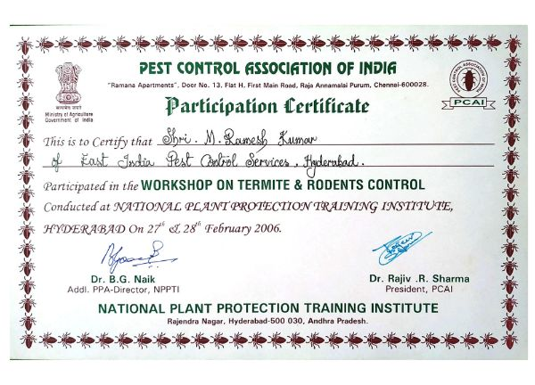2016 pci certification for best pest controlls east india pest control service hyderabad - best pest control service in hyderabad