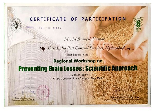 Preventing grain losses by pestcontrolls east india pest control service hyderabad - best pest control service in hyderabad