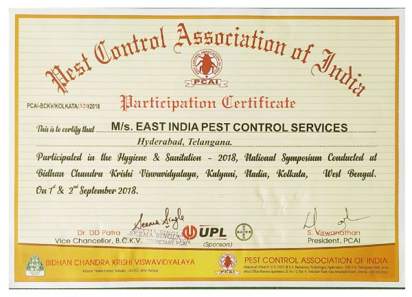 pcai 2018 pestcontrolls east india pest control service hyderabad - best pest control service in hyderabad