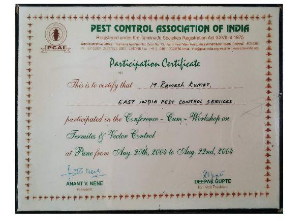 pci 2014 certification pestcontrolls east india pest control service hyderabad - best pest control service in hyderabad