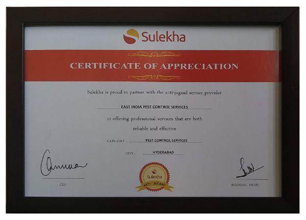 sulekha best pest control service certification pestcontrolls - best pest control service in hyderabad